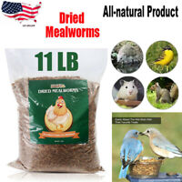 11 LBS Bulk Dried Mealworms for Wild Birds Food Blue Bird Chickens Hen Treats