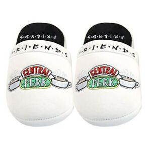 Friends Women's Slippers Central Perk Ladies UK 5-7 Fluffy Shoes TV Series