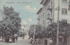 9312) CROAZIA, LAURANA (LOVRAN), CORSO VITTORIO EMANUELE III. VIAGGIATA.