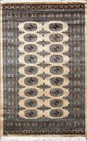 Sepcial Order Pair Traditional Hand Knotted Bokhara Area Rug Beige (3 x 5)