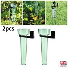 More details for 2pcs/set water rain gauge rainwater rainfall guage garden outdoor rain meter uk
