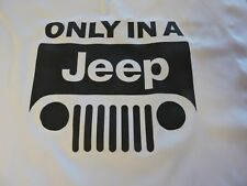 1 JEEP ONLY IN A JEEP Quilt Block CJ Unlimited WRANGLER SPORT MATERIAL FABRIC