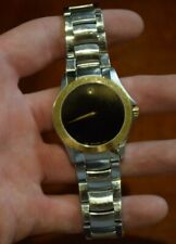 movado museum mens watch 38mm black dial, steel bracelet (collectible) good cond
