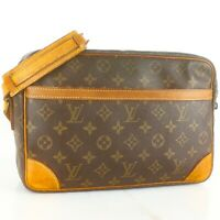 LOUIS VUITTON TROCADERO 30 Crossbody Shoulder Bag Purse Monogram M51272 Brown