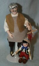 Geppetto and Pinocchio Dolls-Dollhouse Miniature