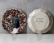 "New Anthropologie "" Peacock White "" Mooreland Dessert Plate by Starla Halfmann"