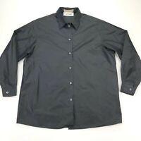 Michael Kors Italy Women's Black 100% Silk Button-Down Shirt Top • Size 4