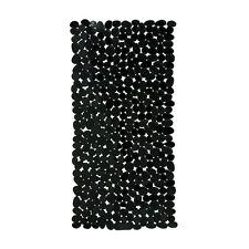Rectangular Black Pebble PVC Bath Mat Shower Suction Anti Non Slip Accessories