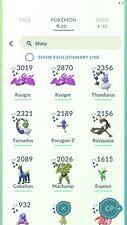Pokémon GO-légendaire & SHINYs compte 376,660 Stardust-Kyogre-Rayquaza-coblion