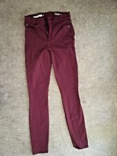 Women's Gap Size 25R Resolution True Skinny Maroon Jeans EUC Comfy