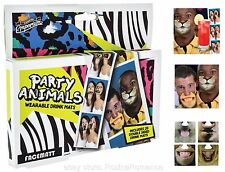 Animal Face Mats Beer Coasters Funny Joke Drinking Game Pub Fun Hen Stag Party