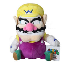 Nintendo Super Mario Bros Plush Toy Wario 11in Stuffed Animal Doll Rare NEW