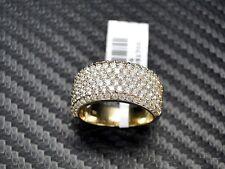 Mens Diamond Pinky Ring Womens Band Round Brilliant Cut 14K Yellow  Gold 2.19Cts