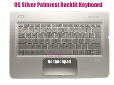 US Silver Palmrest keyboard for HP ENVY 15-w113cl//15-w117cl//15-w237cl//15-w267cl