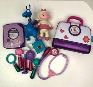 Disney Doc McStuffins Doctor Bag Medical Tools Talking Book Stuffy Lambie Doll