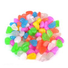 New listing 100 Pcs Luminous Cobblestones Pebbles Stones Glow in the Dark for Aquarium