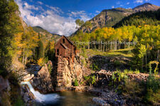 Crystal Mill Colorado 24x36 Photo picture canvas art mine fall colors aspens