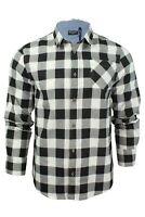 Brave Soul Brushed Flannel Check Cotton Jack Shirt Long Sleeved
