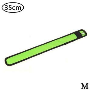 led Flashing Light Bracelet nylon wristband glowing arm Slap Sports yoga A5I6