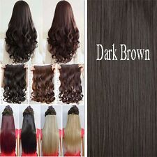 "100% Thick Clip In Hair Extensions Long 3/4 Full Head Hair Extention 17-30"" kcsa"