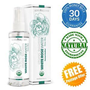 Organic Bulgarian White Rose Water Spray Sensitive Skin Certified Pure Natural