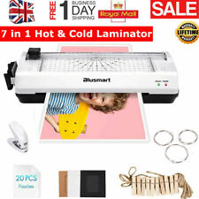 More details for 7 in 1 a4 hot&cold laminator machine 20 pouches+paper trimmer+corner rounder