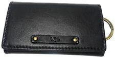 UGG Jenna Leather Key Wallet Case Holder Fob black MSRP$65