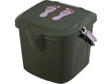 Vis krukje met emmer 15.5L Vissen plastic stoel voetenbank Branq