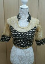 Blouse Ready Made Wedding Party Wear Indian Designer Saree Stitched Crop-Top B17