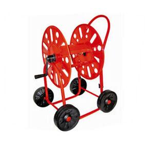 Hose Cart Garden Hose Reel 4 Wheels 90 M 3/4 Inch