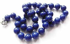 collier LAPILASULI naturel perle brillante attache BIJOU pl or blanc 18k * 4802