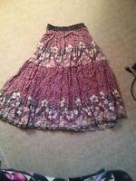 015 Bobbie Brooks USA Made Size M Floral Funky Skirt Elastic Waist