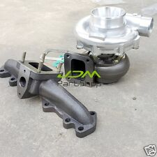 Cast Iron Manifold +T4 Turbo AR0.81 oil cold for Lexus IS300 2JZ-GTE T4 Flange
