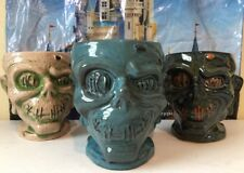 Disney Trader Sams Shrunken Head Zombie Tiki Mugs 1st 2nd 3rd Edition Collection