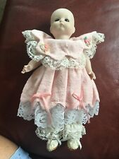 Antique Doll 310 Aom Germany Bisque 10� Pink Dress Jointed Just Me Doll 1929
