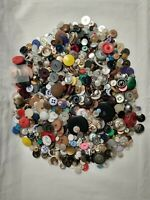 Large Vintage Junk Drawer Mixed Material Buttons (2.8 Pounds) Craft Collection