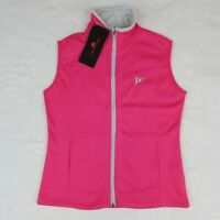 Women's Golf Vest made by The Weather Co. Pink Zip up Size Small
