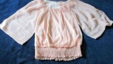Ladies Size Small Peach Blouse by Studio Y