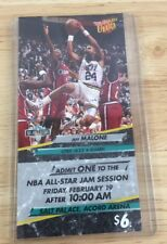 Nba Jam Session Utah All Star Ticket 1993 Jeff Malone New Attached