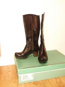 Clarks Marigold Petal Black Leather Ladies knee h boots 5/38 D RRP £140 excellen