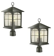 2 Home Decorators Collection Brimfield 3-Light Outdoor Aged Iron Post Light