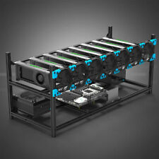 8 Card CryptoCurrency GPU Mining Rig-Ethereum- 240MH+ MSI RX 570 7.2KH+ Monero7