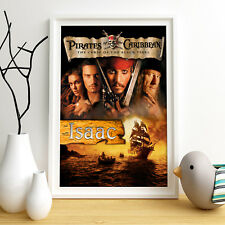 Pirates of the Caribbean Personalised Poster A4 Print Wall Art Custom Name ✔