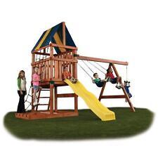Backyard Play Set DIY Custom Kids Swing Slide Playhouse Outdoor Fun Hardware