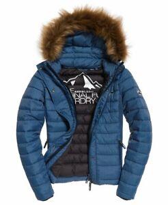 New Superdry Fuji Slim Double Zip Hooded Jacket size UK12