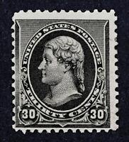 Scott US #228 - 1890-93 Jefferson, 30 Cents; Mint Hinged; OG; CV=$280