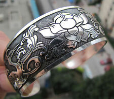 EXQUISITE TIBETAN TIBET SILVER TOTEM BANGLE CUFF BRACELET ( PEACOCK ) 40