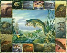 Jigsaw puzzle Animal Fish First Strike 750 piece NEW Made in USA