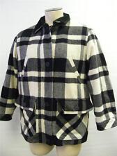 womens EXPRESS button/zip up WOOL BLEND  jacket coat MEDIUM LINER BLK PLD CLEAN