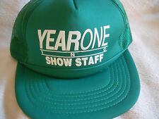 VINTAGE 1990's SNAPBACK HAT MESH MINT  YEAR ONE CAR SHOW STAFF